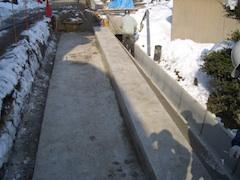 台座コンクリート打設完了状況